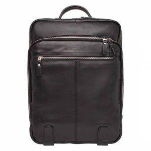 df7c0e6ec633 Большой мужской рюкзак для города Lakestone Norley Black из черной кожи ...