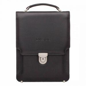 78a45fc3ba72 Вертикальный портфель Lakestone Gilbert Black мужской из черной кожи ...