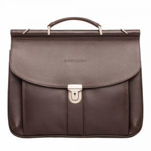 238ef1c227b6 Мужская сумка-портфель Lakestone Hammond Brown из коричневой кожи ...