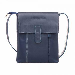 2f90f4116bc3 Молодежная сумка через плечо Lakestone Monkton Dark Blue мужская кожаная ...